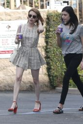 Emma Roberts in Mini Dress  - Out in Los Angeles 3/27/2016