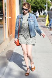 Emma Roberts in Mini Dress - Out in West Hollywood 3/30/2016