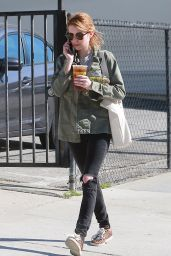 Emma Roberts in RIpped Jeans - Out in Los Angeles 3/26/2016