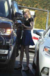 Emma Roberts Leggy in Mini Skirt - Leaving Fred Segal in LA 3/16/2016