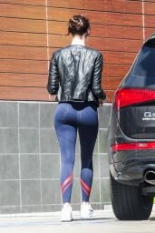 Emma Stone Booty in Spandex - at a Gas Station in Malibu 3/26/2016