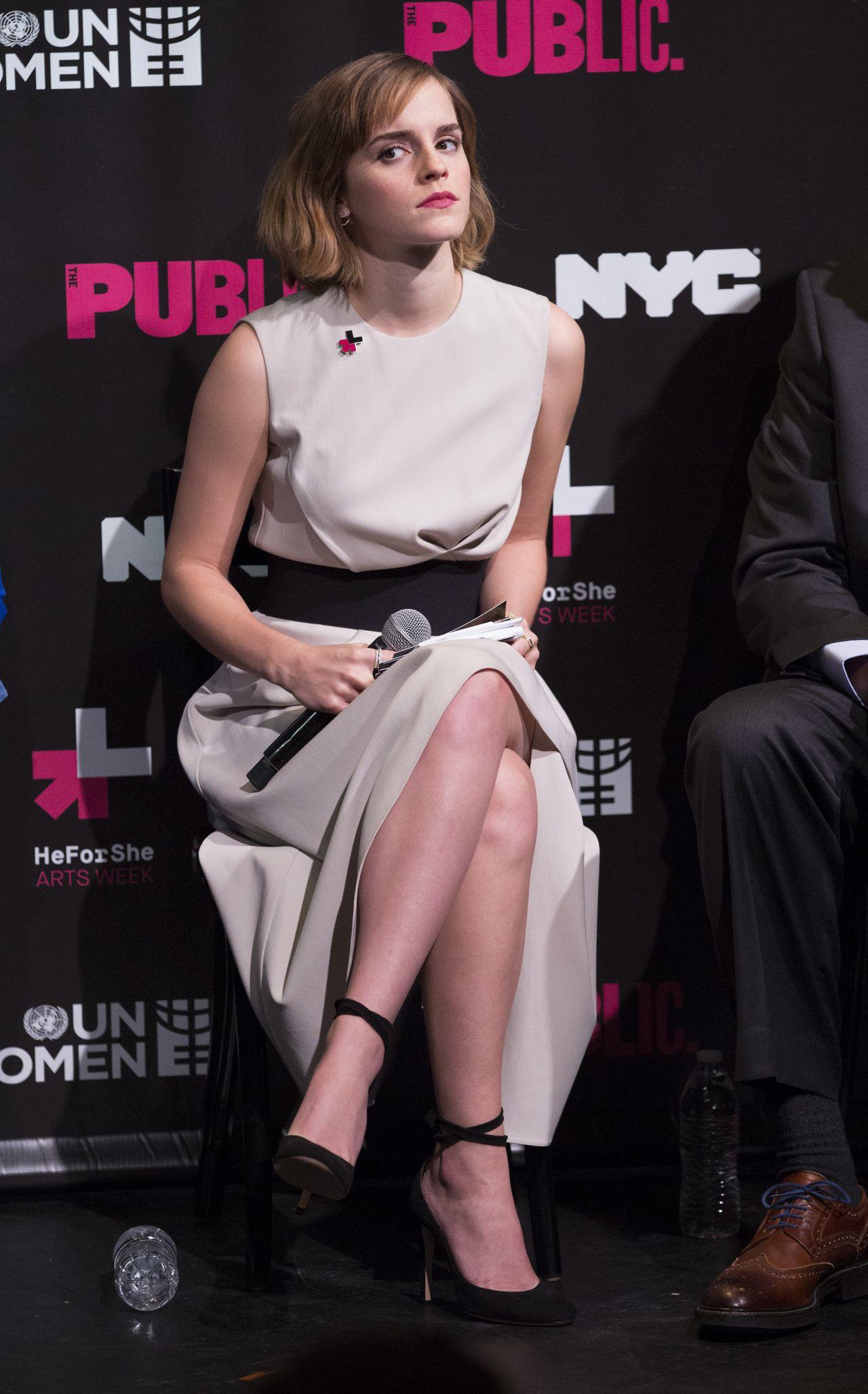 Emma Watson Heforshe Art Week Launch In New York City 3