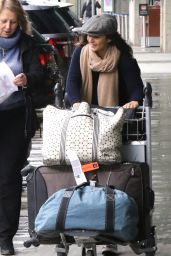 Emmanuelle Chriqui - Arrives in Vancouver, March 2016