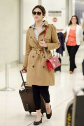 Emmy Rossum Airport Style - at LAX in Los Angeles 3/21/2016