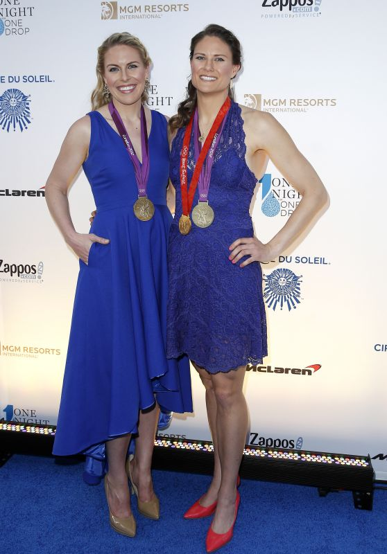 Esther Lofgren & Susan Francia - Cirque Du Soleil Presents Star - Studded Blue Carpet 3/18/2016