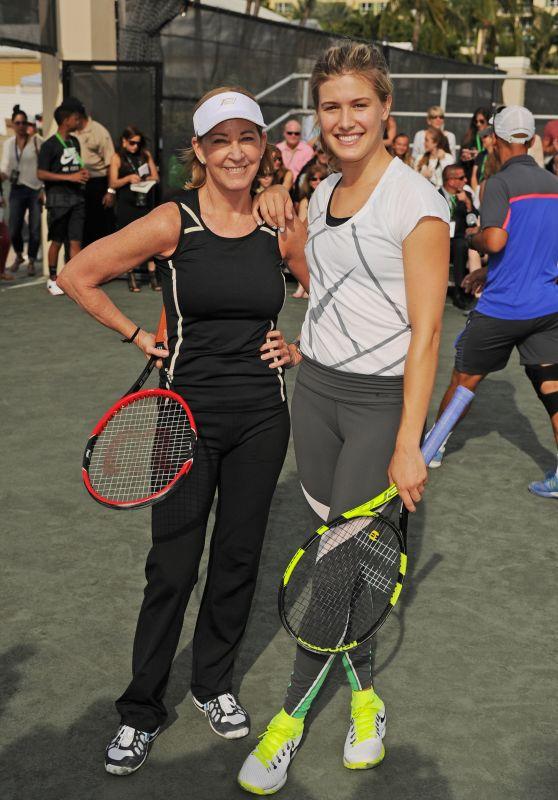 Eugenie Bouchard, Serena Williams & Chris Evert - All Star Tennis Event, The Miami Open 2016
