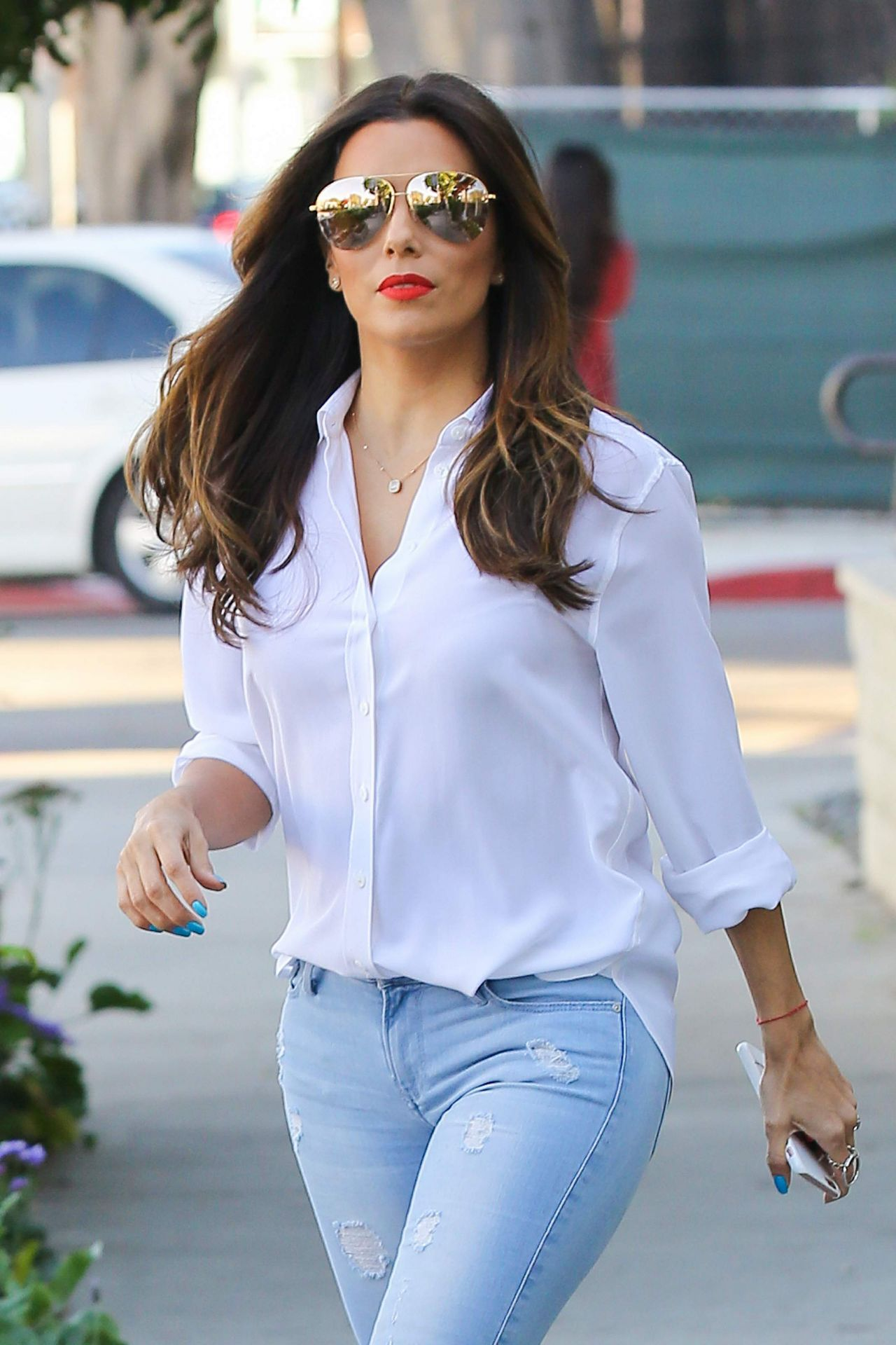 Eva Longoria Gets Her Hair Done at Ken Paves Salon in West Hollywood 3 ... Eva Longoria