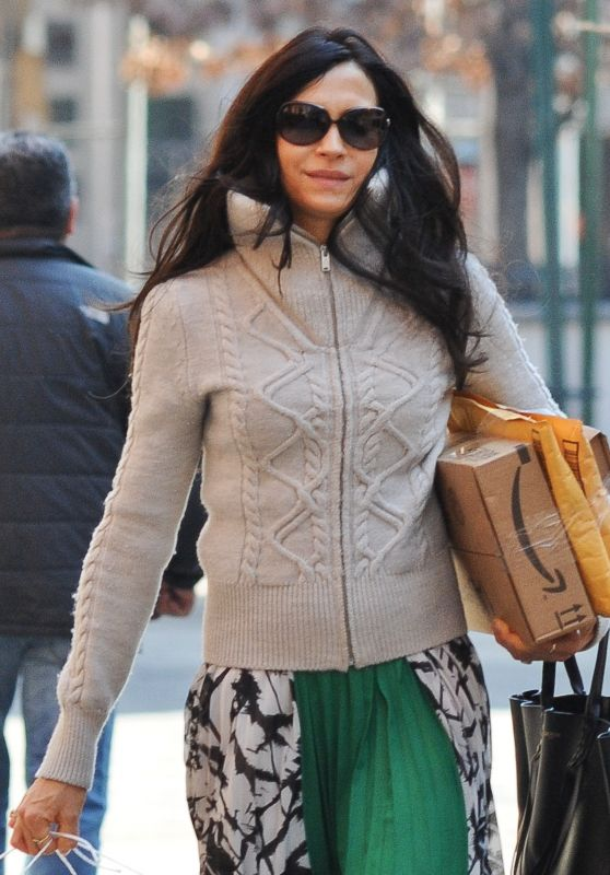 Famke Janssen Casual Style - Out in New York 3/8/2016