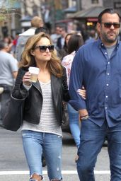 Giada De Laurentiis in RIpped Jeans - Shopping at The Grove in LA 3/13/2016