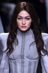 Gigi Hadid - Balmani Fashion Show - Paris Fashion Week 3/3/2016