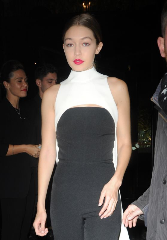 Gigi Hadid - Heading to the Dior After Party in Paris 3/4/2016