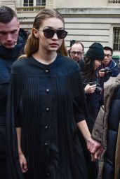 Gigi Hadid - Leaving the Giambattista Valli Fashion Show in Paris, March 2016