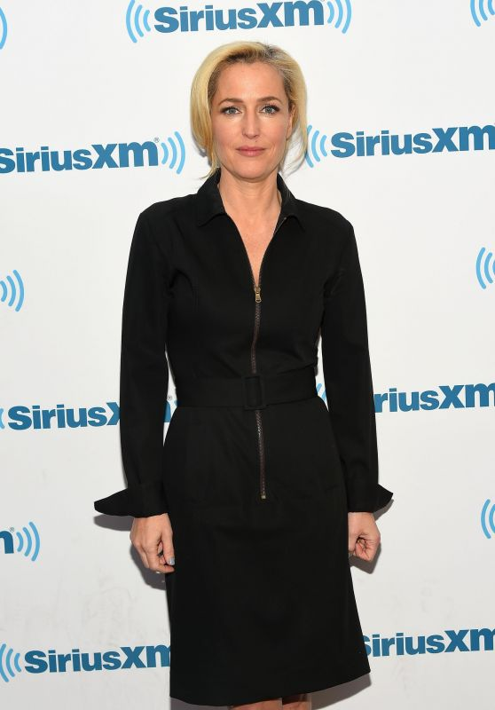 Gillian Anderson at SiriusXM Studios in New York City 3/23/2016