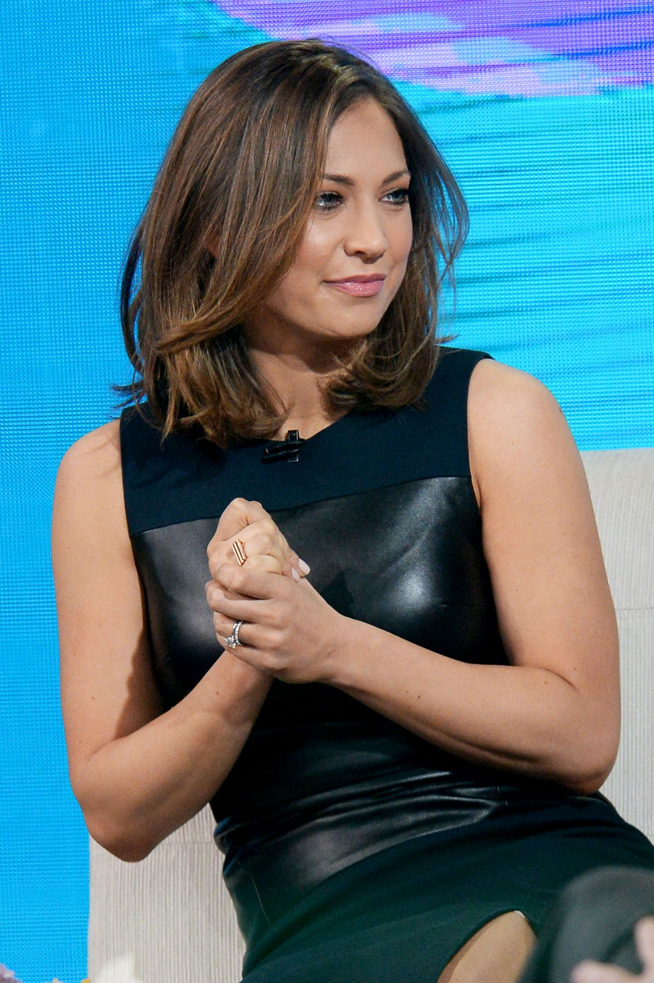 Ginger Zee - Tapes a Segment for 'Good Morning America' in Times Square, New York, March 2016 ...