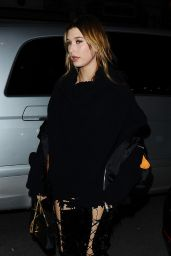 Hailey Baldwin - Arriving for at Costes in Paris, March 2016