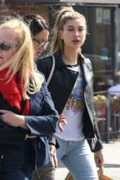 Hailey Baldwin Casual Style - Getting Starbucks in Beverly Hills 3/1/2016