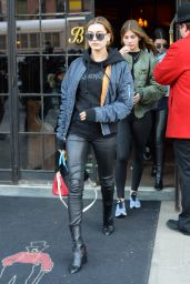 Hailey Baldwin Street Style - Leaving the Bowery Hotel in NYC 3/29/2016