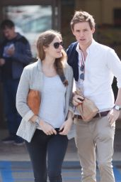 Hannah Bagshawe and Eddie Redmayne - Picks up Meds at the Local Pharmacy in Malibu 3/1/2016