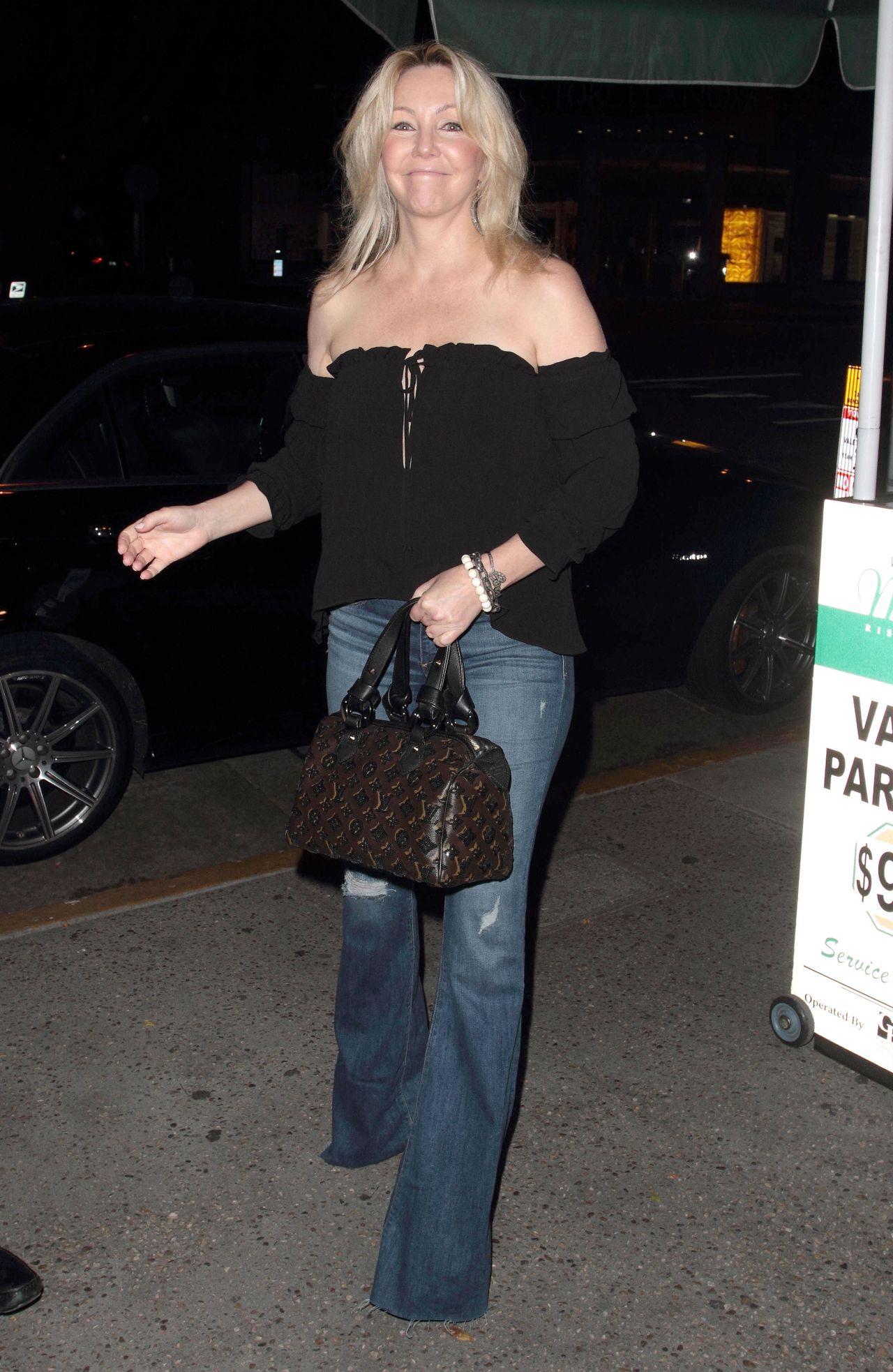 Warren Beatty and Annette Bening depart Madeo at Celebrit ...