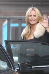 Heidi Klum - Leaving the ITV Lorraine Show Studios 3/17/2016