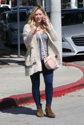 Hilary Duff Street Style - Out in Beverly Hills 3/26/2016
