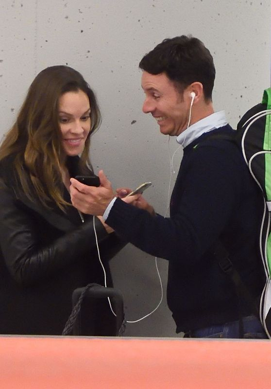 Hilary Swank - JFK Airport in NYC 3/21/2016
