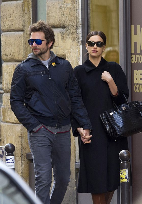 Irina Shayk and Bradley Cooper - Out in Paris, France March 2016