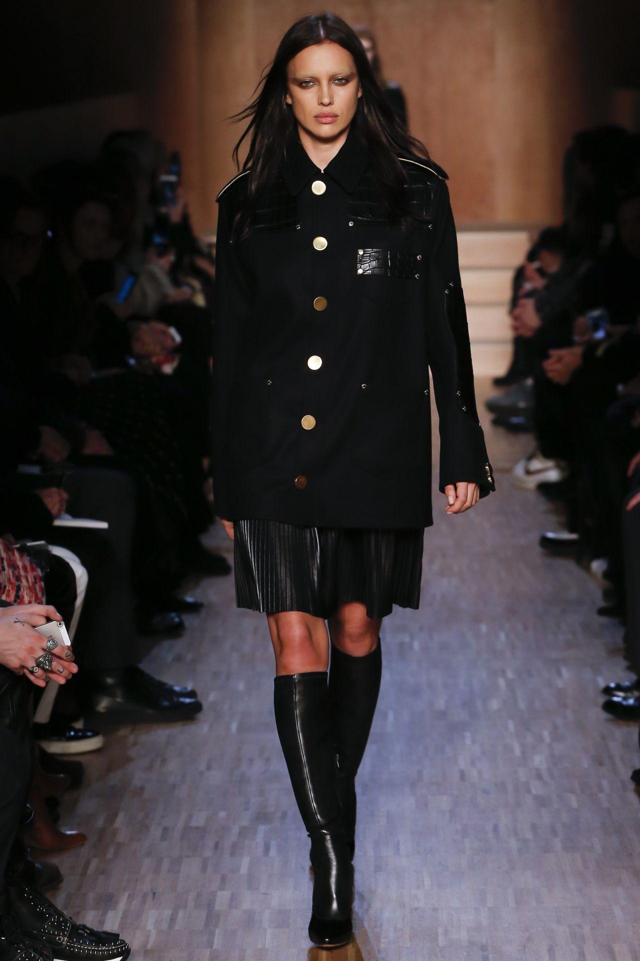Irina Shayk Givenchy Fashion Show In Paris March 2016