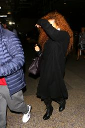 Janet Jackson at LAX Airport in Los Angeles, March 2016
