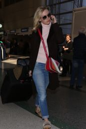 January Jones Arrives at Los Angeles International Airport 3/6/2016