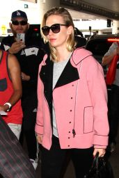 January Jones at LAX Airport in Los Angeles 3/9/2016