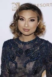 Jeannie Mai – One Night for ONE DROP Blue Carpet in Las Vegas 3/18/2016