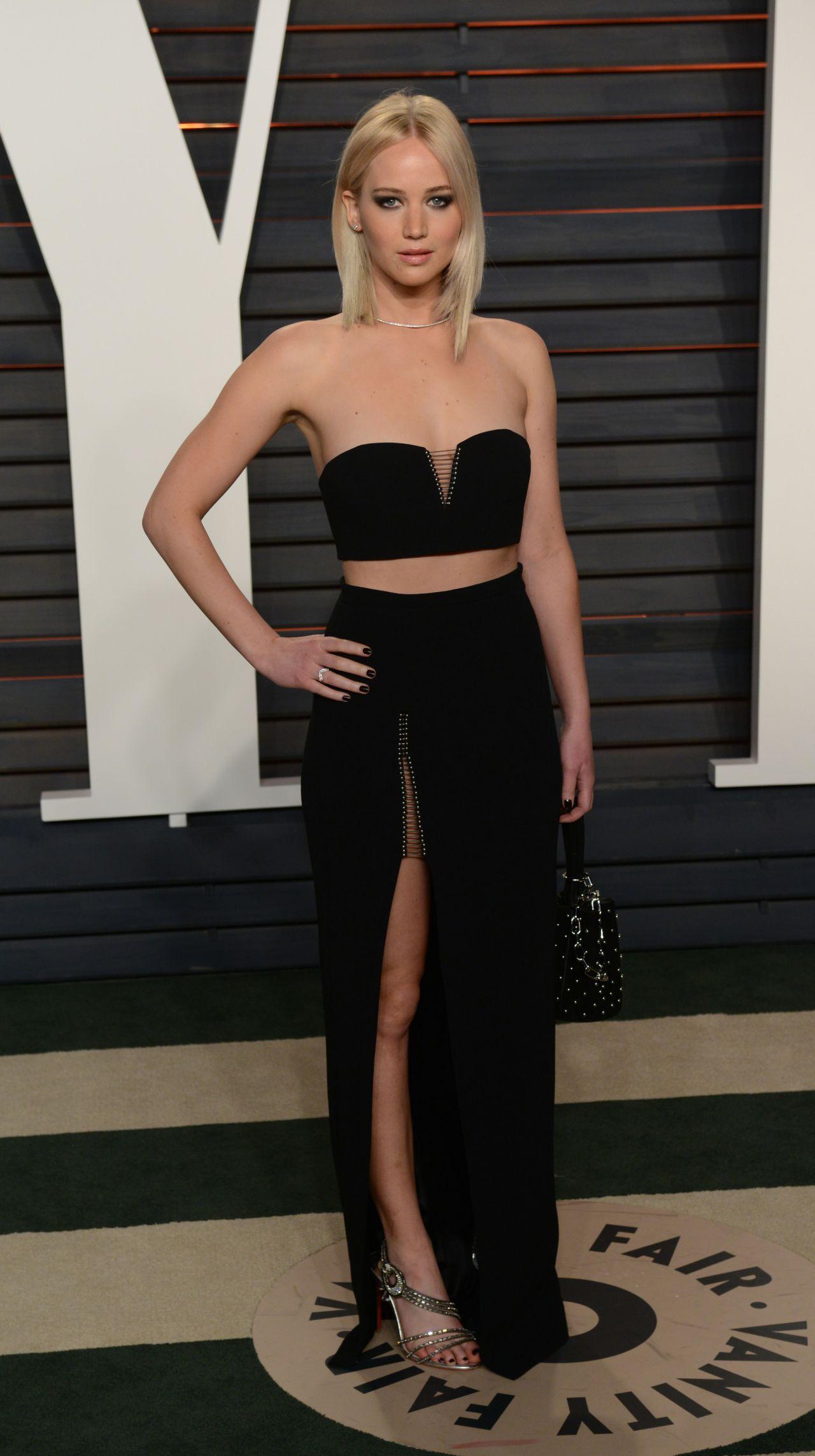 Jennifer Lawrence Vanity Fair Oscar 2016 Party In