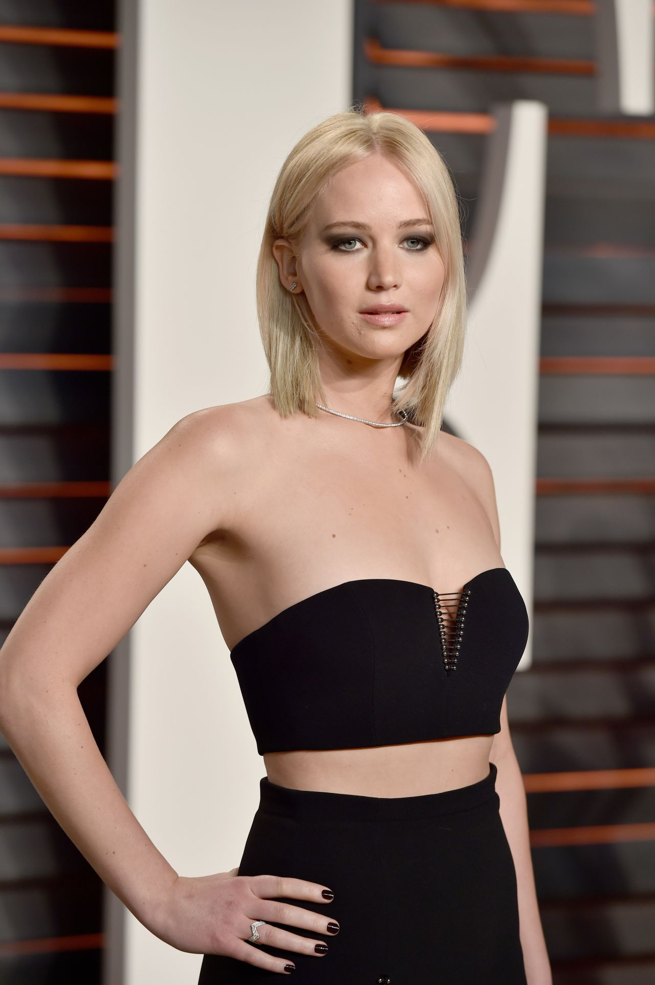 Jennifer Lawrence Vanity Fair Oscar 2016 Party In