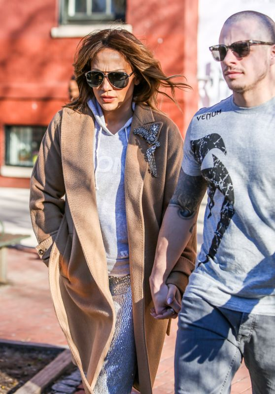 Jennifer Lopez - Holding Hands With Casper Smart - Out in New York, March 2016