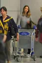 Jessica Alba at JFK Airpot in New York 3/28/2016