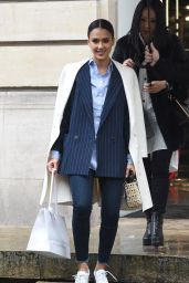 Jessica Alba Street Fashion - Out in Paris, France 3/4/2016