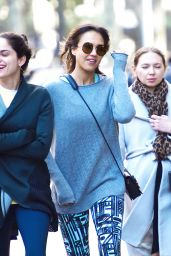 Jessica Alba Was Seen Documenting Her NYC 3/28/2016