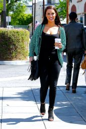 Jessica Lowndes - Getting Coffee in Studio City, CA 3/29/2016