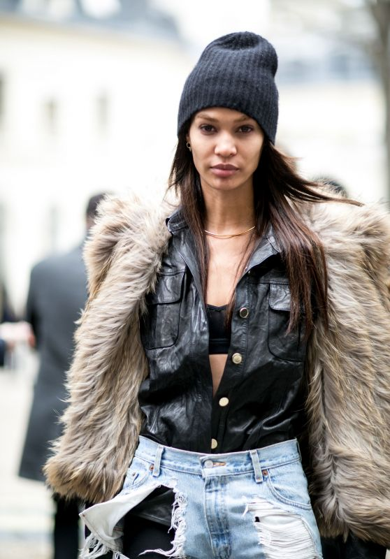 Joan Smalls – Streetstyle Photoshoot in Paris, March 2016