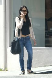 Jordana Brewster - Walks and Chats in Beverly Hills 3/28/2016
