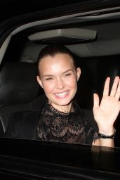 Josephine Skriver Waves to Cameras After Leaving the AOL Build in NYC 3/22/2016