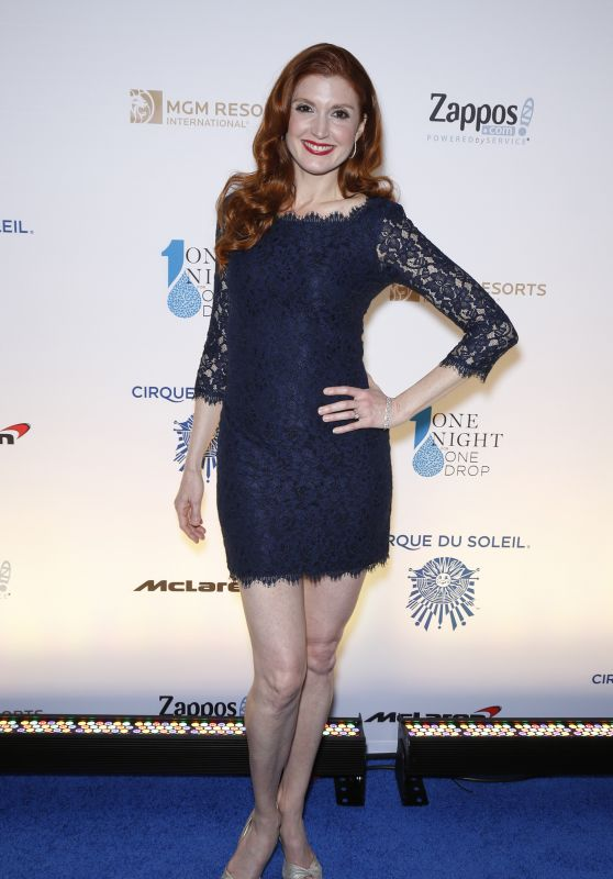 Julia Fowler – One Night for ONE DROP Blue Carpet in Las Vegas 3/18/2016