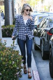 Julianne Hough in Plaid Shirt - Out in Beverly Hills 3/9/2016