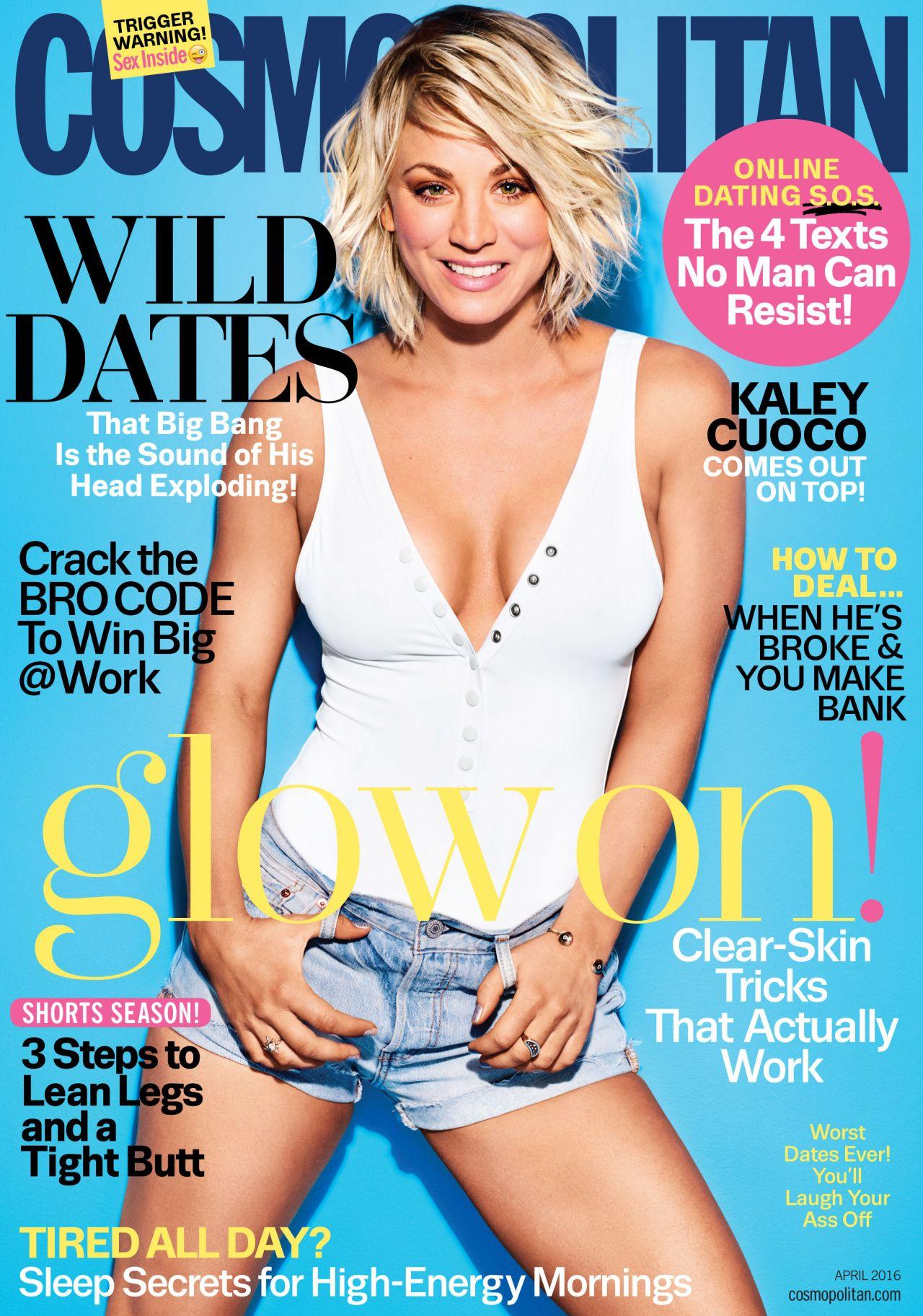 Kaley Cuoco Cosmopolitan Magazine Cover April 2016