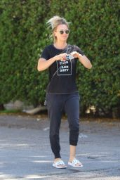 Kaley Cuoco Street Style - Leaving the Nail Salon in Studio City 3/16/2016