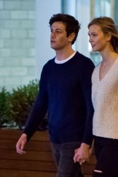 Karlie Kloss and Joshua Kushner - Knicks vs. Cavaliers Game on Easter Weekend in NYC 3/26/2016
