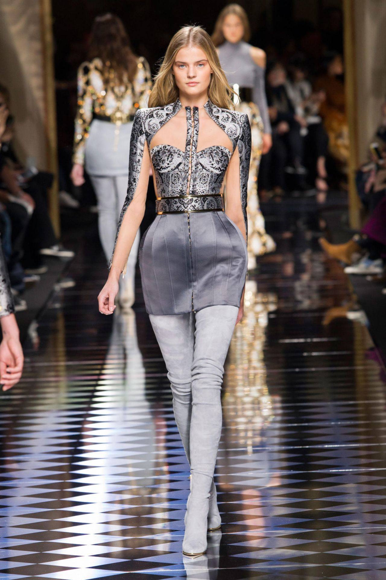 Kate Grigorieva Balmain Show Paris Fashion Week March 2016