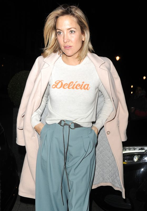 Kate Hudson Night Out Style - London 3/4/2016