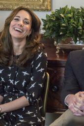 Kate Middleton - Met With Jonny Benjamin and Neil Laybourn at Kensington Palace 3/10/2016